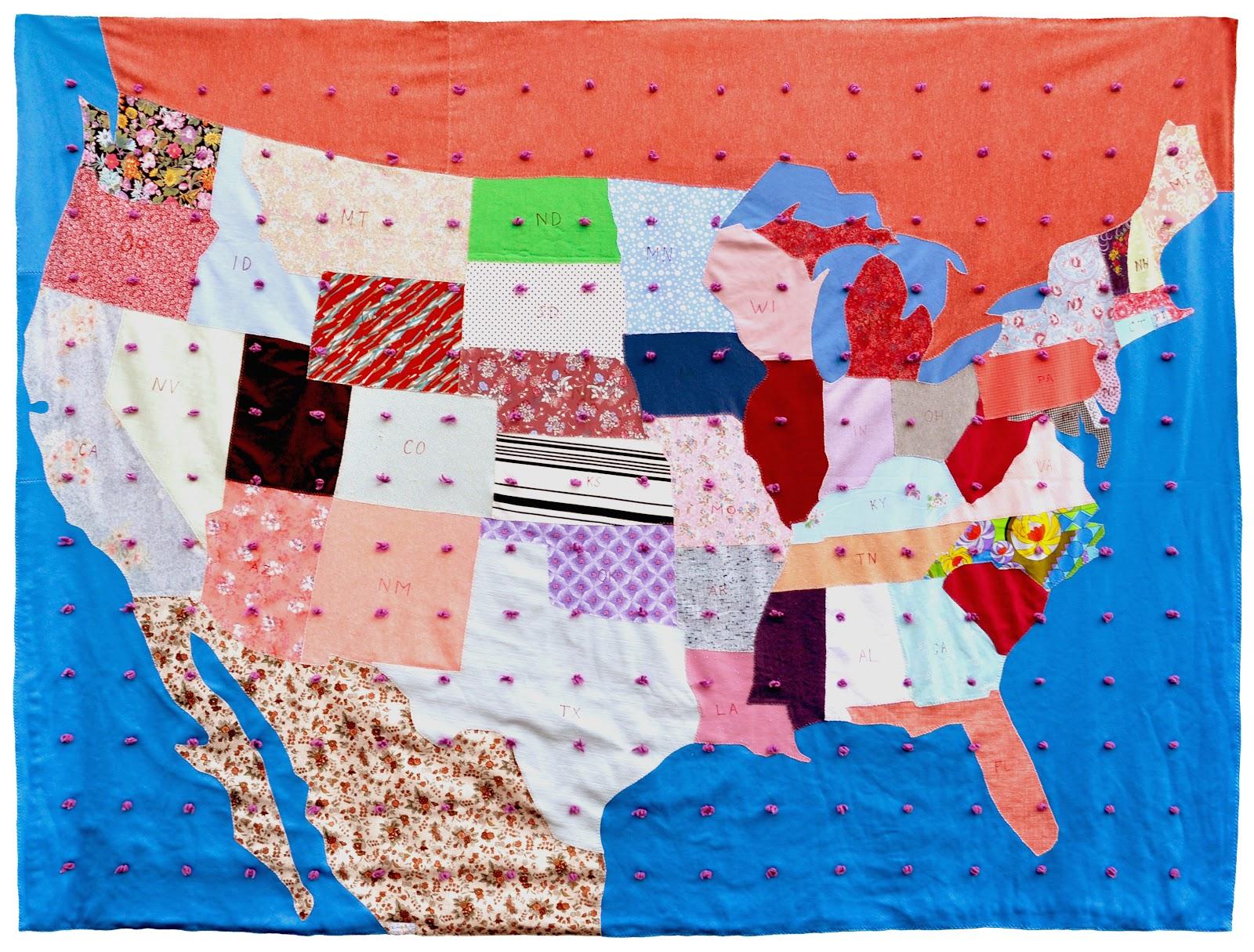Wonkyworld: United States of America Quilt