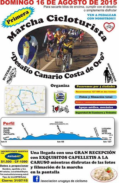 Marcha cicloturista Desafío Canario - Costa de oro (16/ago/2015)