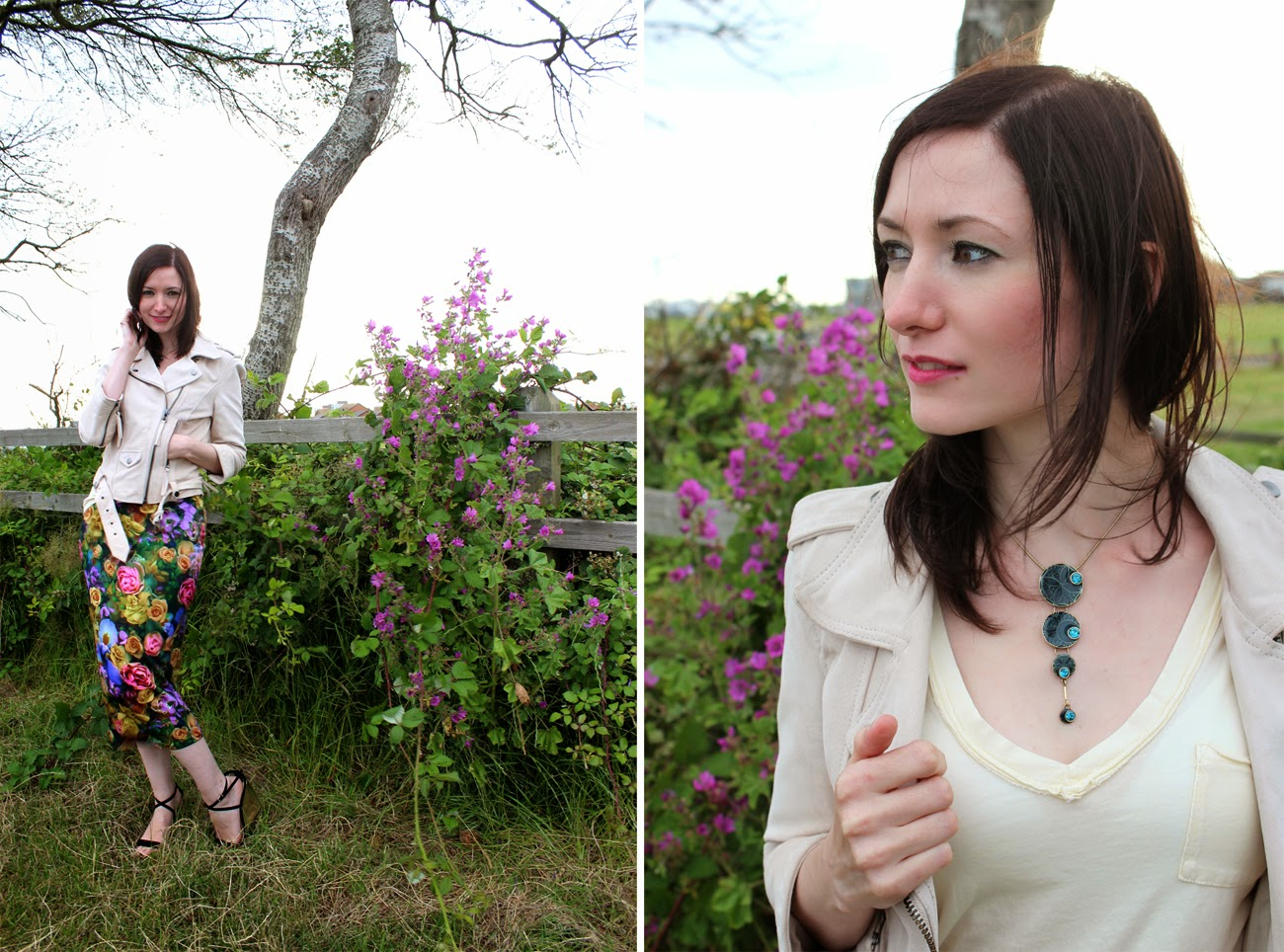 vintage necklace, outfit post, today my way