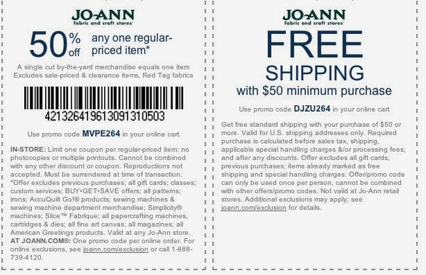Joann.com coupon code