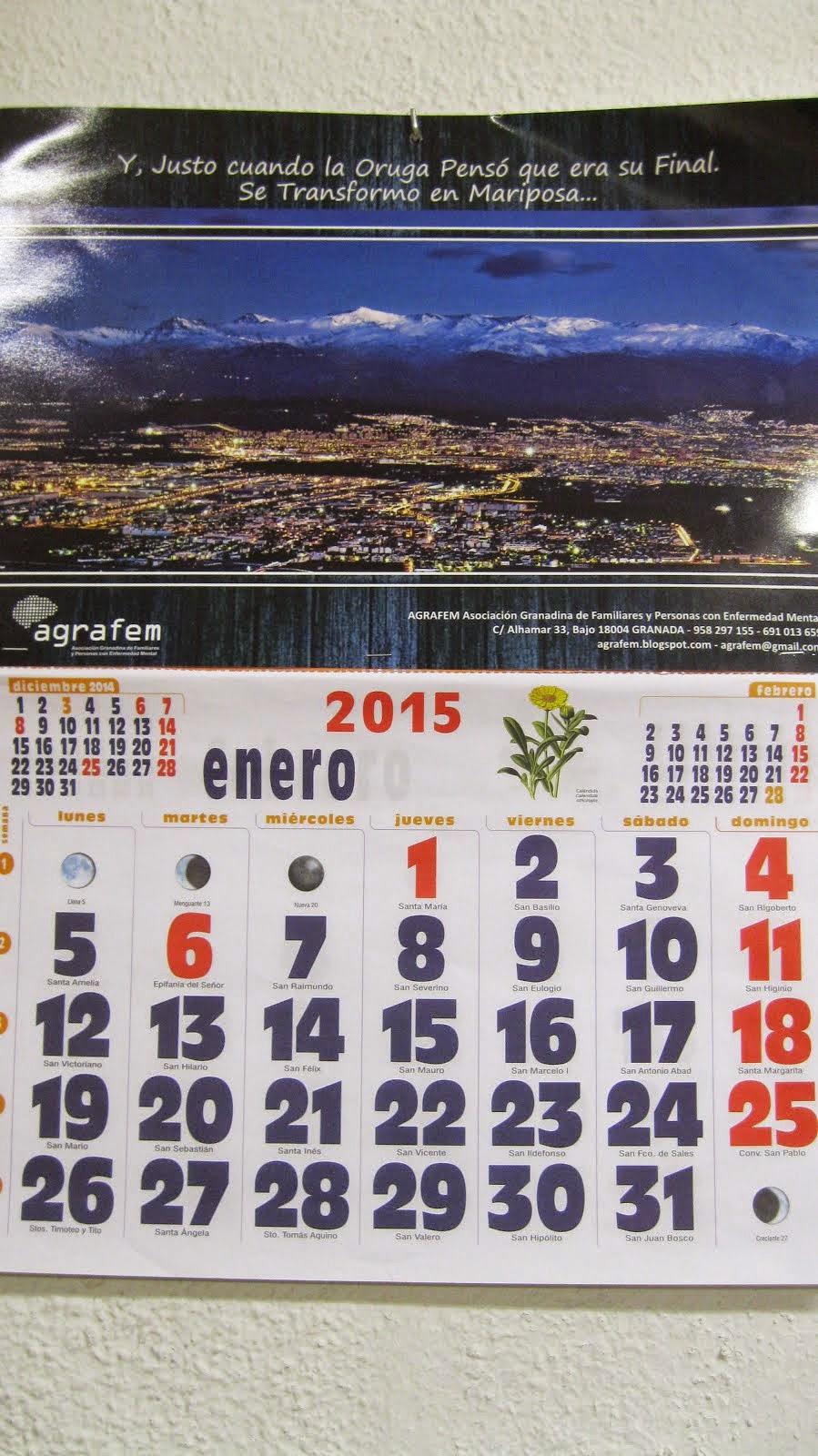 CALENDARIO SOLIDARIO 2015 POR SÓLO 3,50€