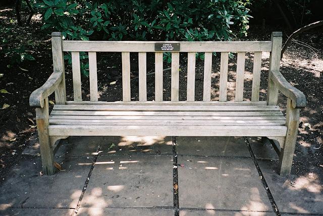 London bench Battersea Park
