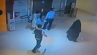 A CCTV image released by Abu Dhabi police on December 3, 2014