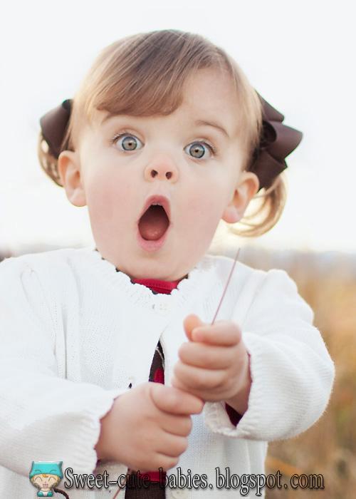 surprised, little, girl