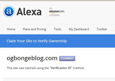Ogbongblog Alexa rank