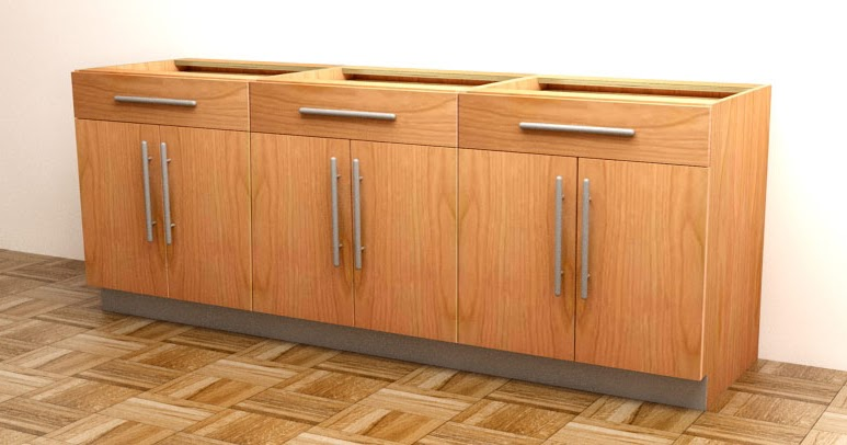 How to build frameless base cabinets for Basic kitchen base units