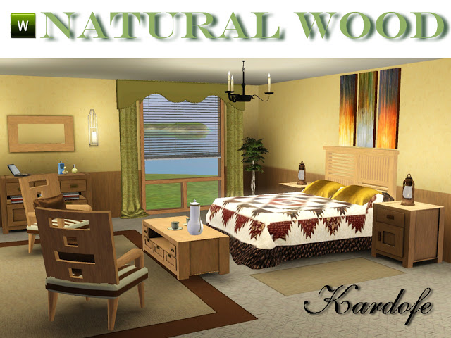 My Sims 3 Blog Natural Wood Bedroom Set By Kardofe