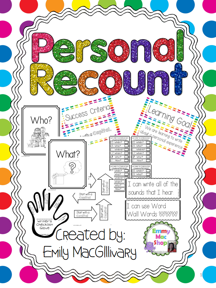 We begin every year with Personal Recount. This unit works really well ...