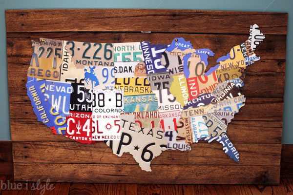 Licence Plate Map for Less