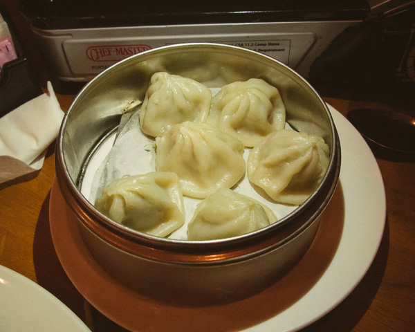 Dumplings at Lucky Bamboo in Nashville Tennessee