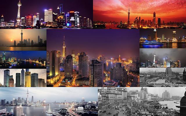 Collage Shanghai, China - Paisajes de Ciudades