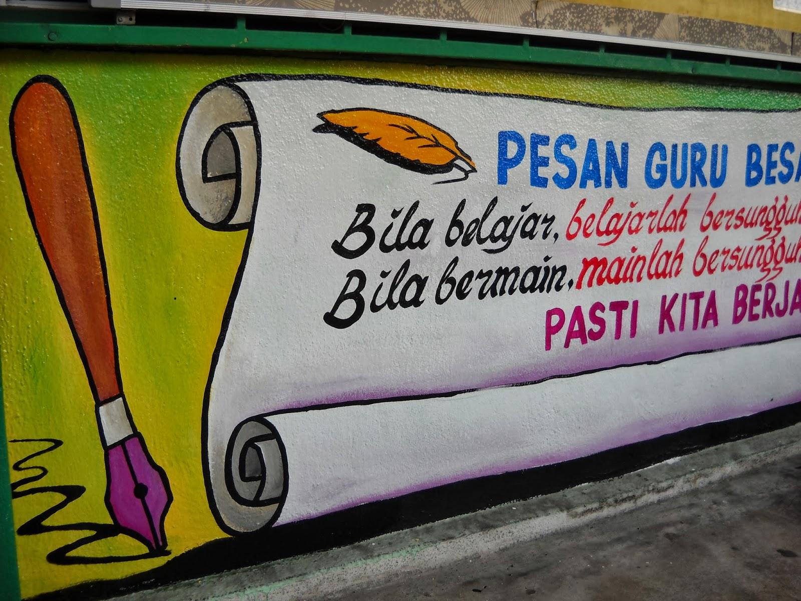 Pelukis mural shah alam mural pusat sumber sekolah for Mural kartun
