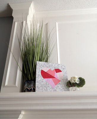 Valentine's Day Mantle, Holiday Art, Valentine's Day Decor