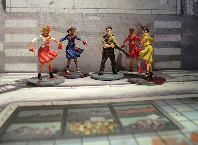 Zombicide Kickstarter Nick El Cholo Zombies Painted Phil the cop