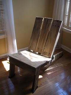 silla con palets
