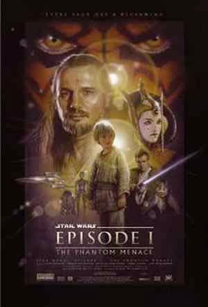 Poster Star Wars La Amenaza Fantasma