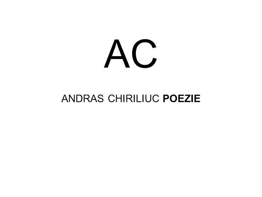 ANDRAS CHIRILIUC POEZIE