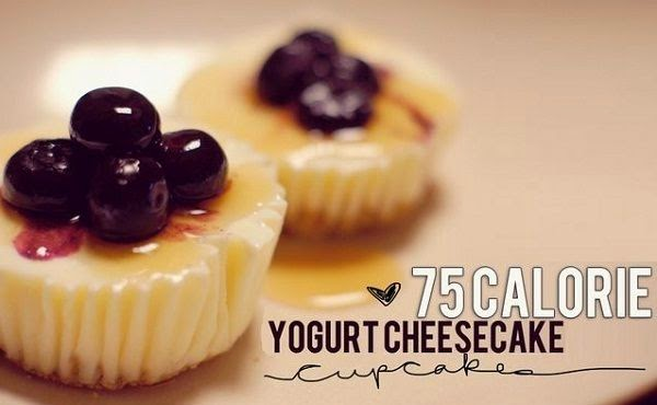 Low calorie Yogurt Cheesecake Minis