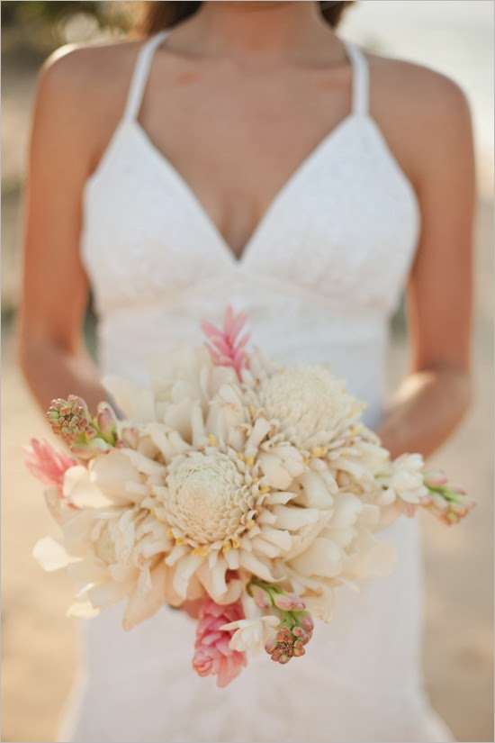 Bridal Bouquet Tropical Flowers : Hawaiian wedding bouquets stuff ideas