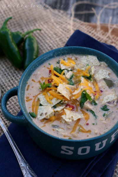 Crockpot Spicy White Chicken Chili