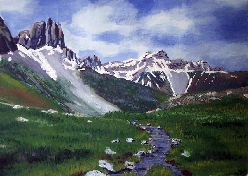 Pinturas del pirineo aragon s for La mesa de los tres reyes