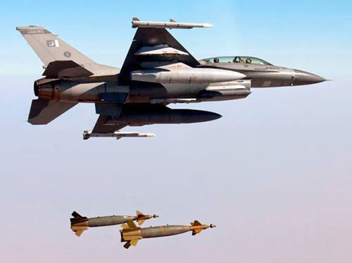 PAF F16 Fighting Falcons Dropping Bombs On Target