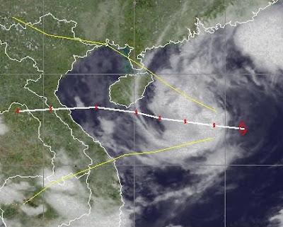 Tropischer Sturm NALGAE baut vor Hainan und Vietnam deutlich ab, Nalgae, Hainan, Vietnam, Oktober, 2011, Verlauf, Vorhersage Forecast Prognose, Taifunsaison, aktuell,