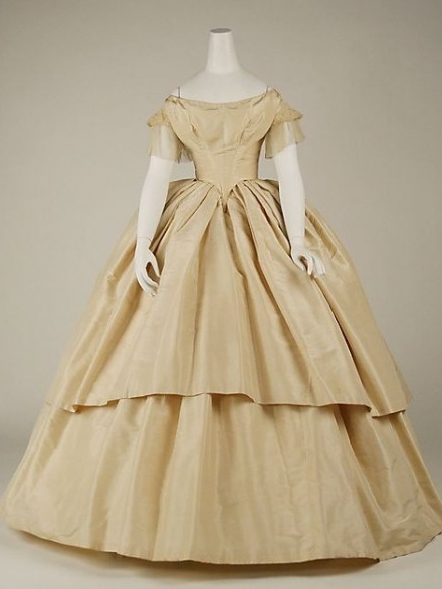 Champagne Off Shoulder Victorian Dress