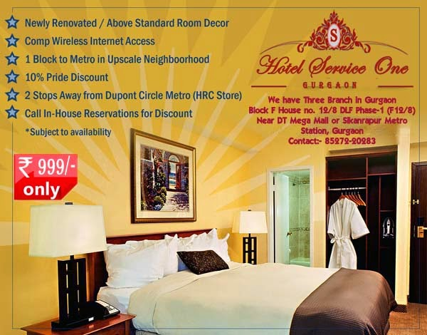Hotel at Gurgaon @ Rs.999 only Contact:- +91-85272-20283
