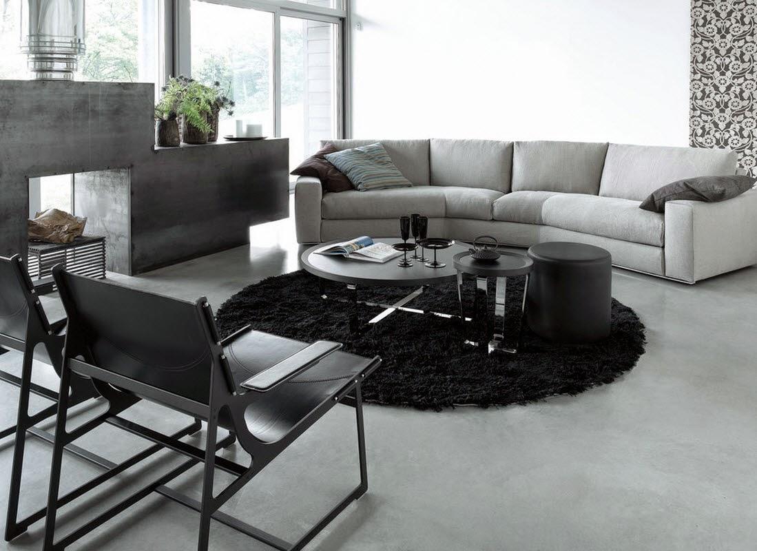 Sofa lengkung ruang tamu