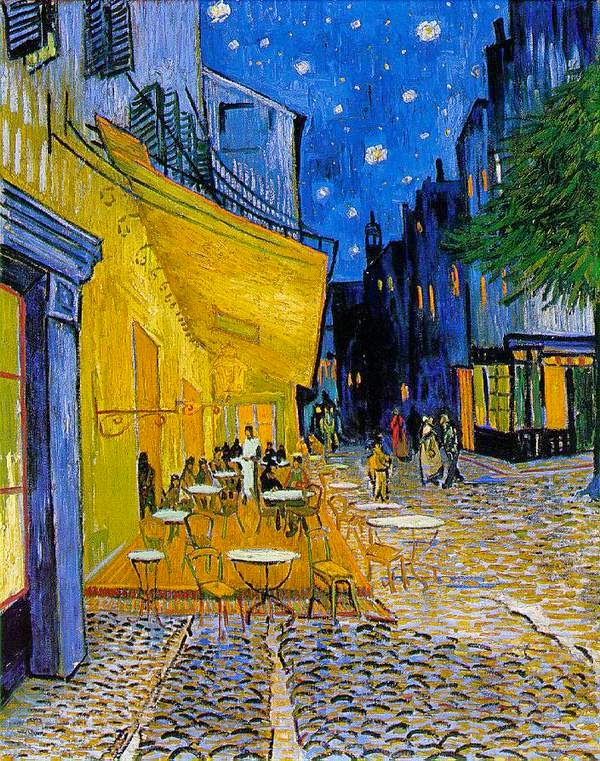 10 Out Of The Most Beautiful Paintings Of All Time - Café Terrace at Night by Vincent Van Gogh (1888)