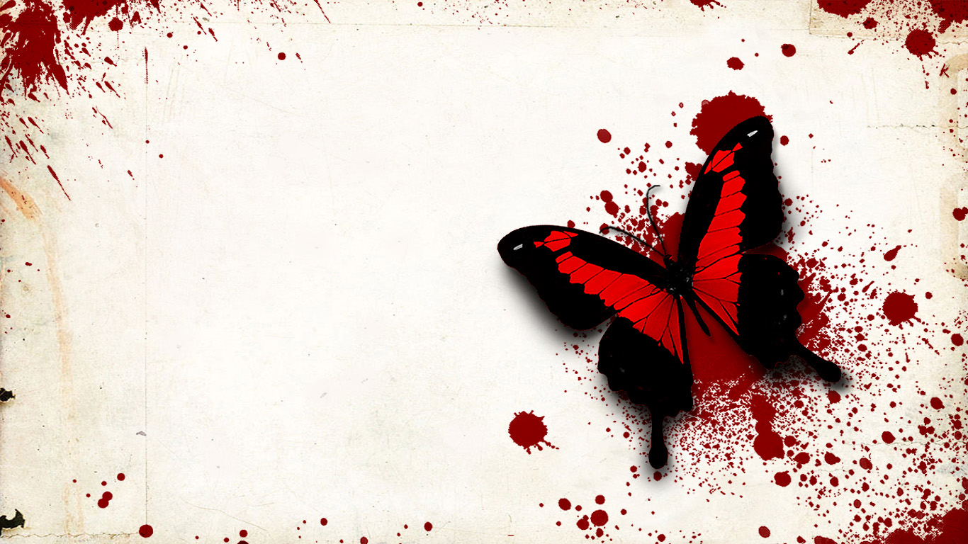 I Love You Wallpaper In Blood : Blood print butterfly ~ Dream Wallpapers