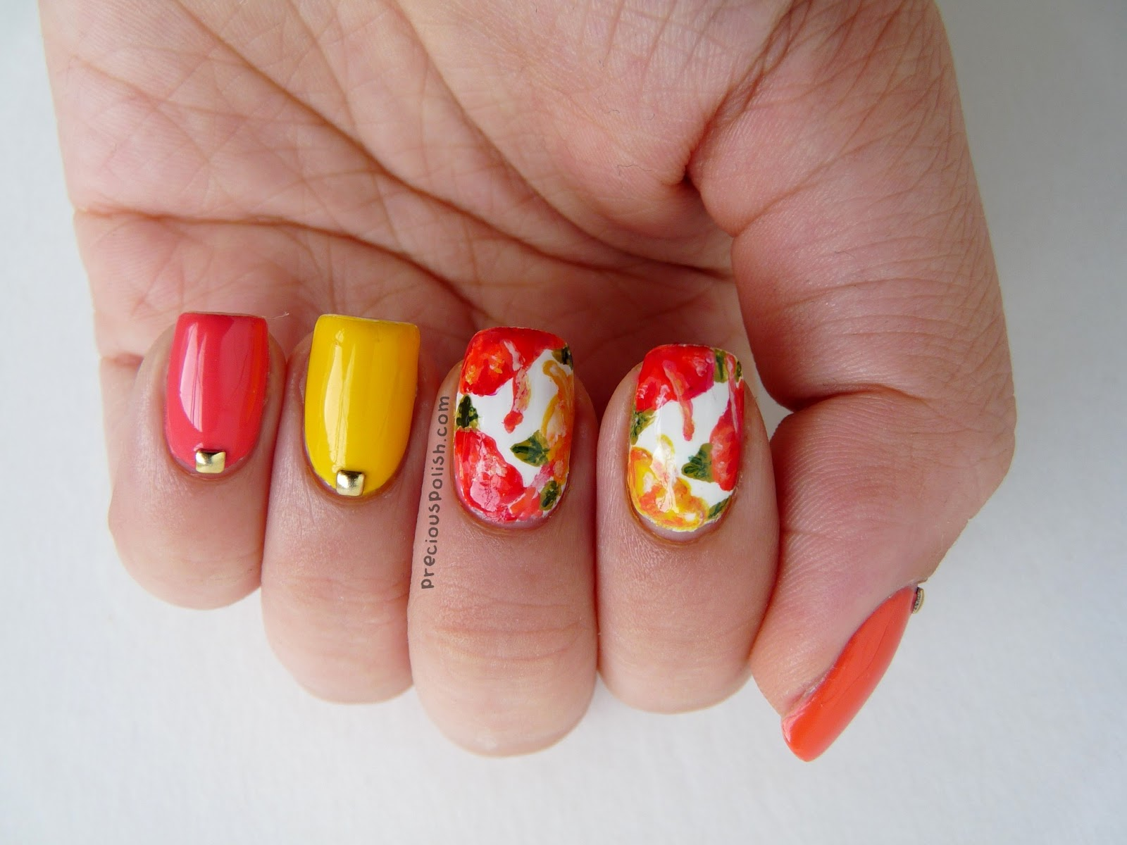 precious polish: Tutorial Tuesday: Hibiscus Flowers