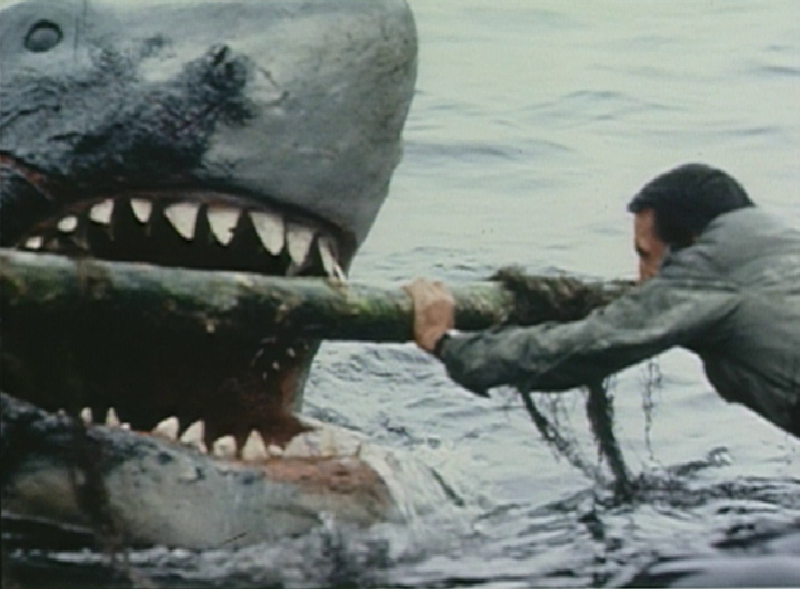 jaws review essay Review archives howards end roger so the police chief famously informs the shark hunter, right after the first brief appearance of the man-eater in jaws it's not simply a splendid line of dialogue, it's an example of steven spielberg's strategy all through the film.