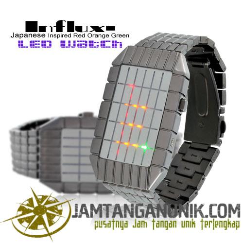 influx square led watch jam tangan unik berbentuk kotak