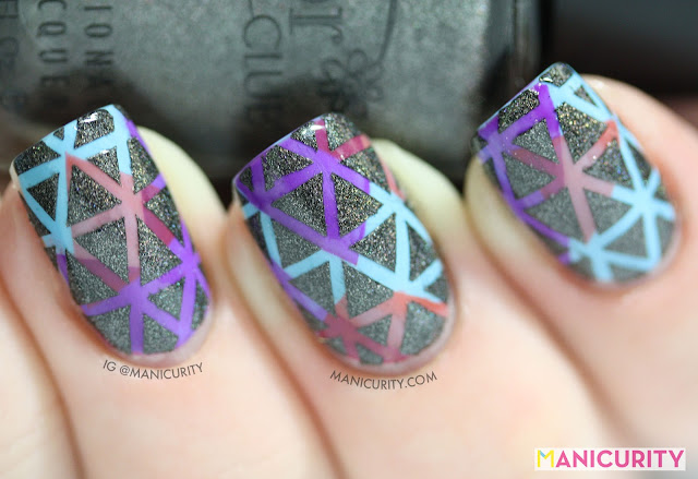 Manicurity | Digit-al Dozen: Triangles on Triangles on Triangles! with Color Club Revvvolution