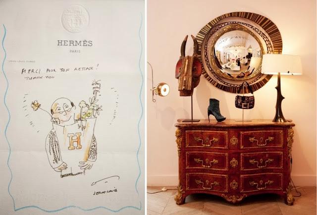 detalle hermes y cómoda antigua casa ines de la fressagne