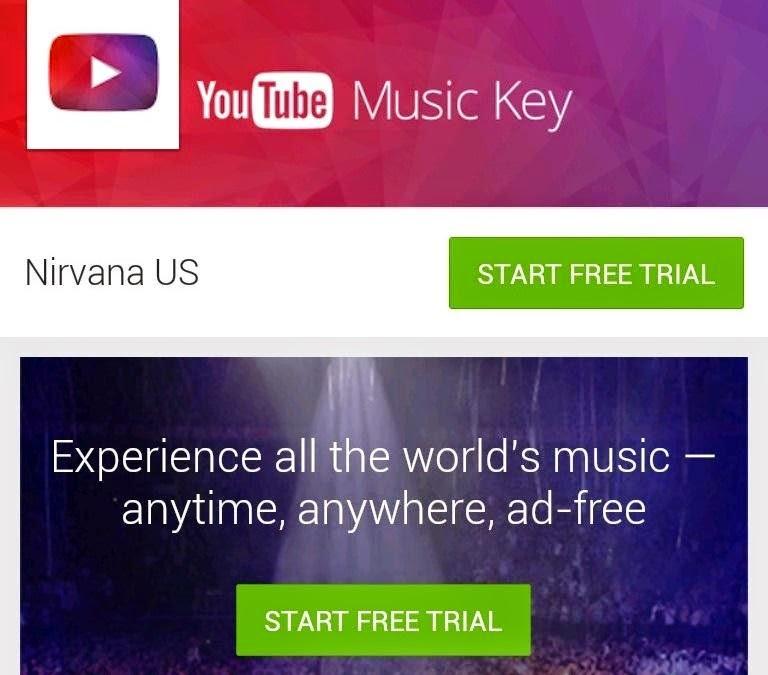 YouTube Music Key launch screen image