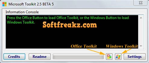 Microsoft Toolkit 2.5 Beta 5 Screenshot