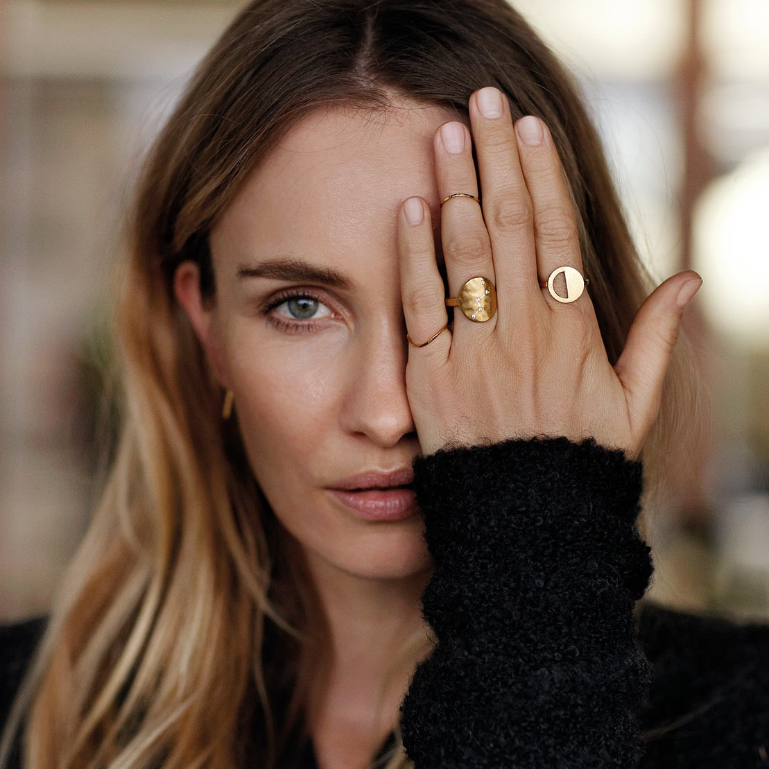 pernille corydon - dainty gold rings
