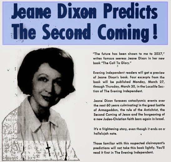 "Back To The Future 1962 1975 May 2013: OBAMA, NOSTRADAMUS & JEANE DIXON: 07 USA ""CALL OF GLORY"