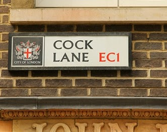 Cock Lane, London sign