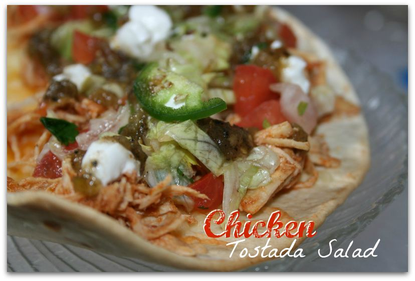 Wednesday - Chicken Tostada Salad with Salsa Verde , Corn Dip and Pico ...