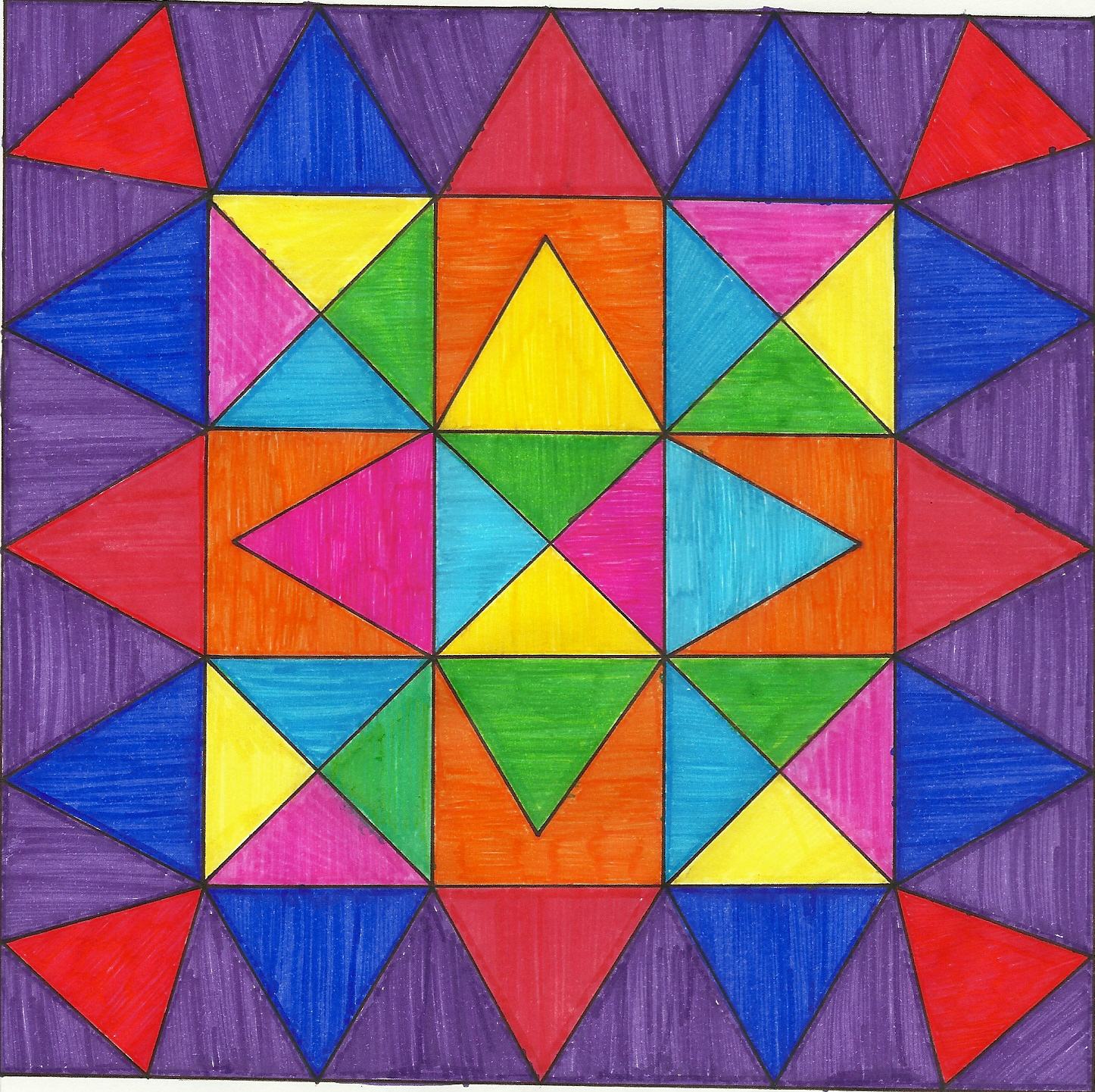 Mariale ejercicio mandala - Colores llamativos ...