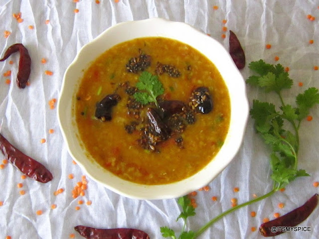 simple and easy protein rich curry made from red lentils