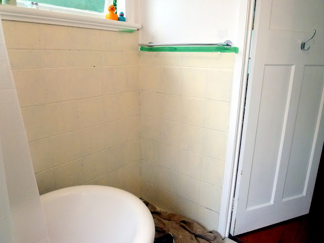 Fun And Vjs Priming The Bathroom Tiles