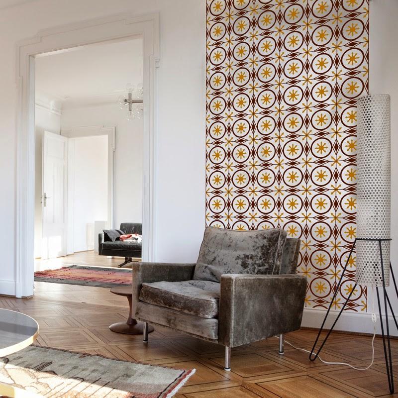 Papel pintado vinilo decorativo suelo hidr ulico - Papel pintado vinilo ...