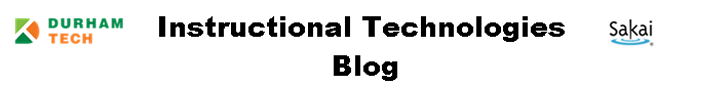 Instructional Technologies Blog