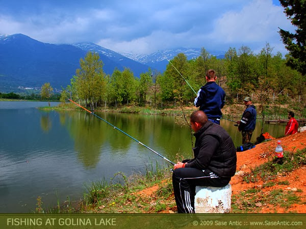 Fishing at Golina Lake (Vratnica, Macedonia)
