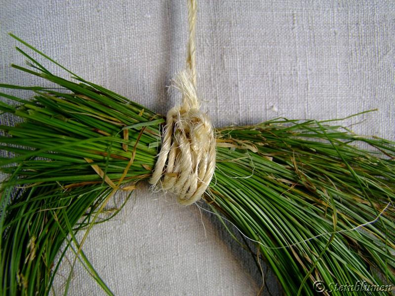 dekokranz aus Gras basteln